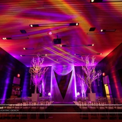 Wedding led uplighting at McNamara 6