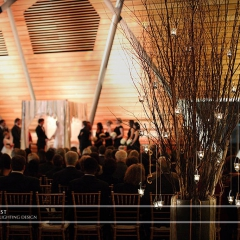 Wedding led uplighting at McNamara 21
