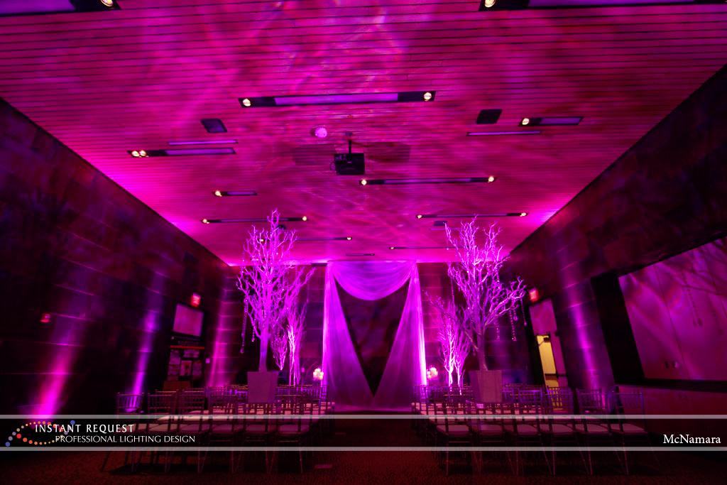 Wedding led uplighting at McNamara 10