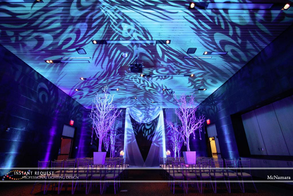 Wedding led uplighting at McNamara 16