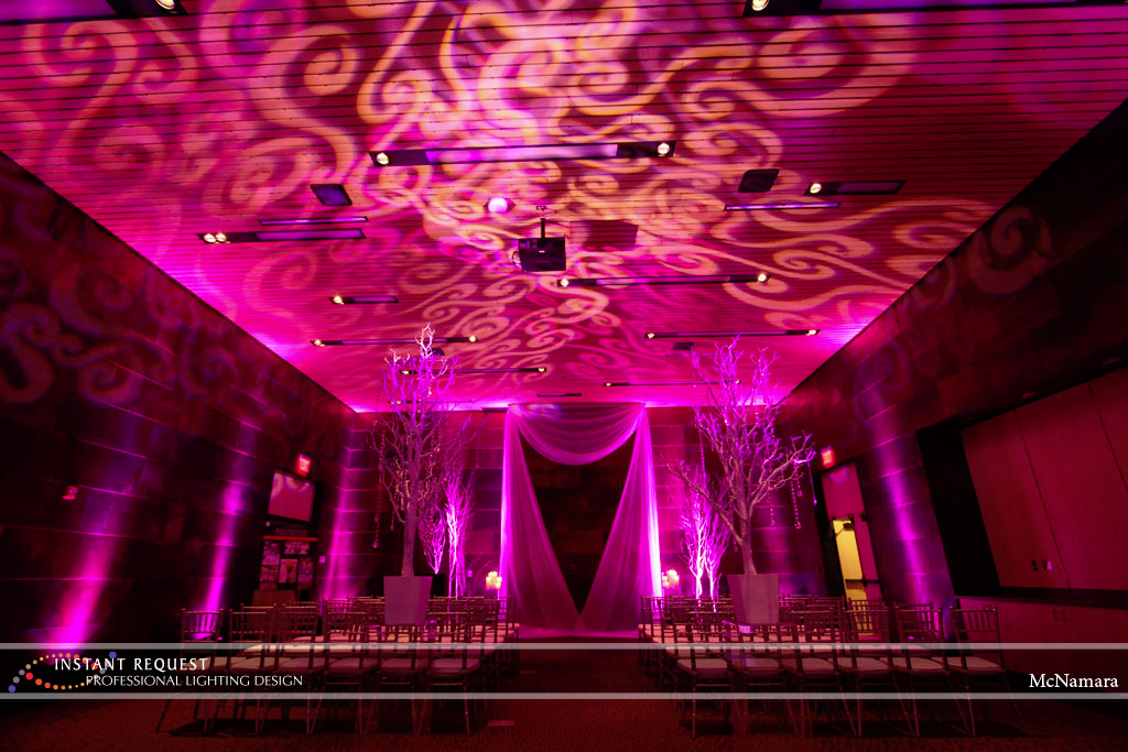 Wedding led uplighting at McNamara 7