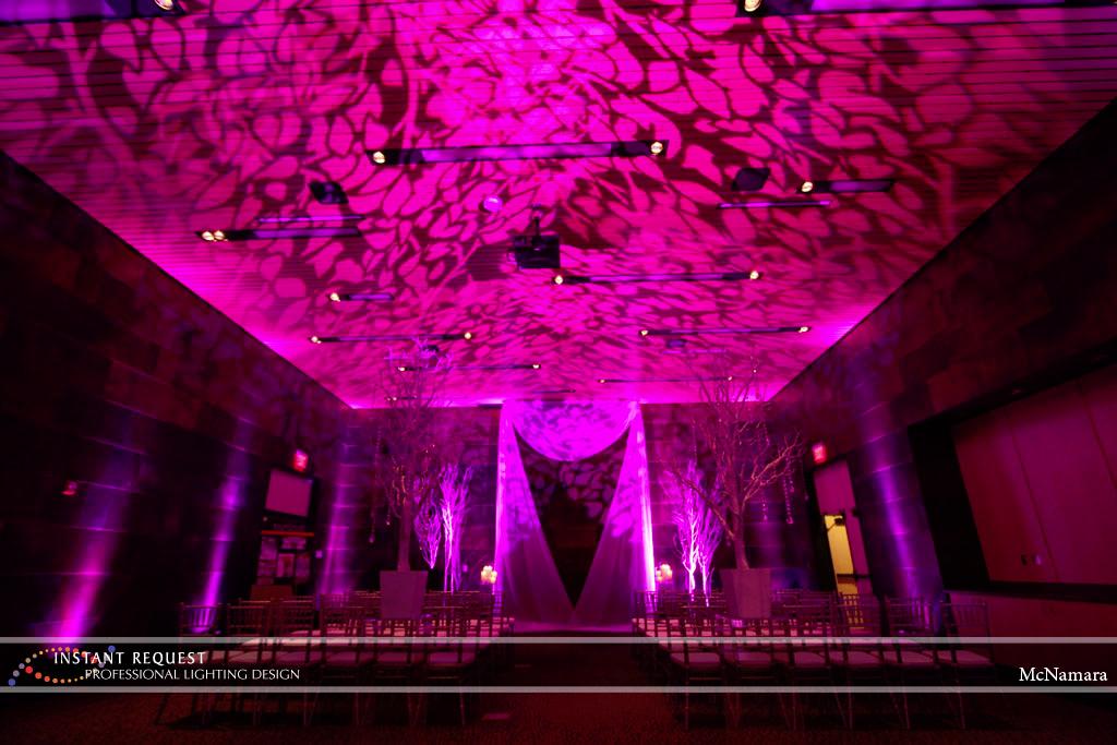 Wedding led uplighting at McNamara 8