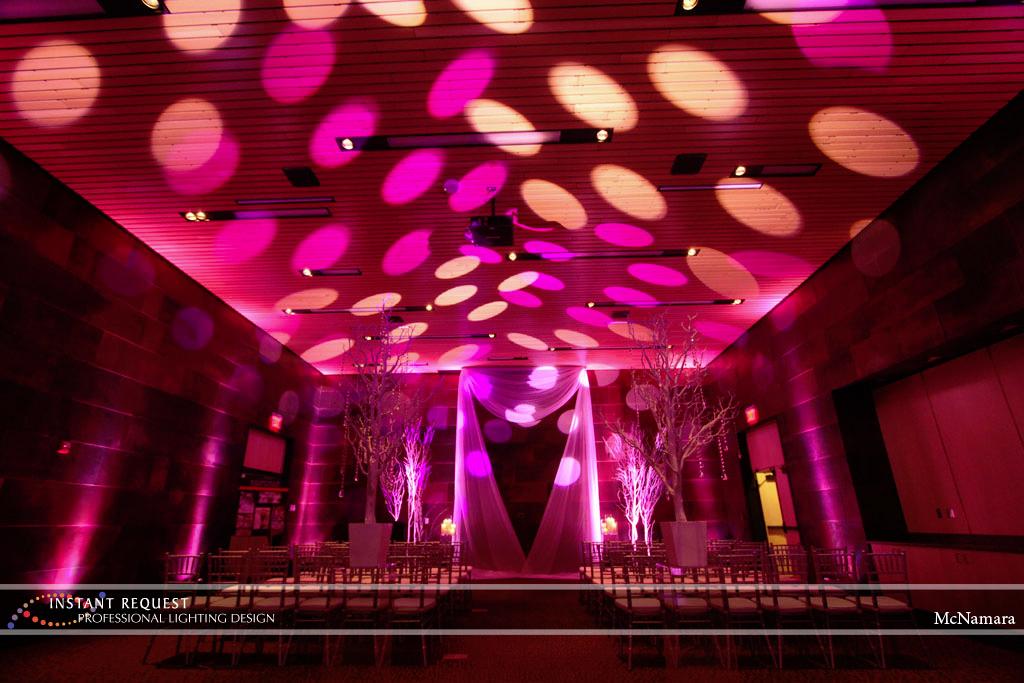 Wedding led uplighting at McNamara 9