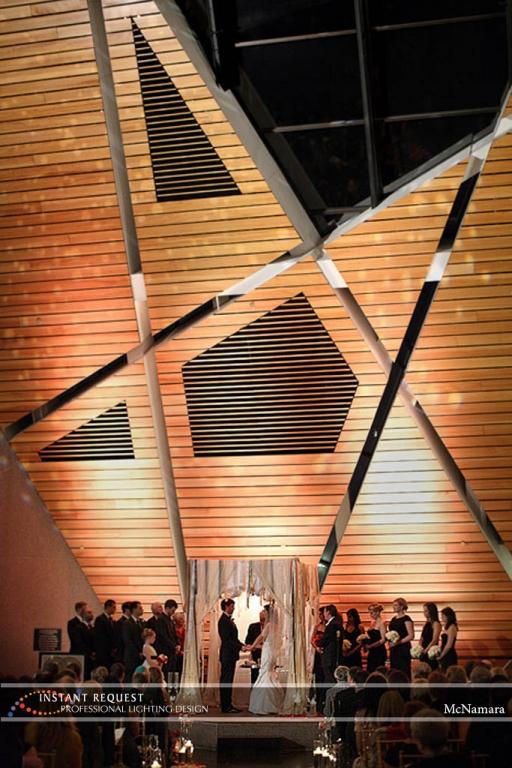 Wedding led uplighting at McNamara 22