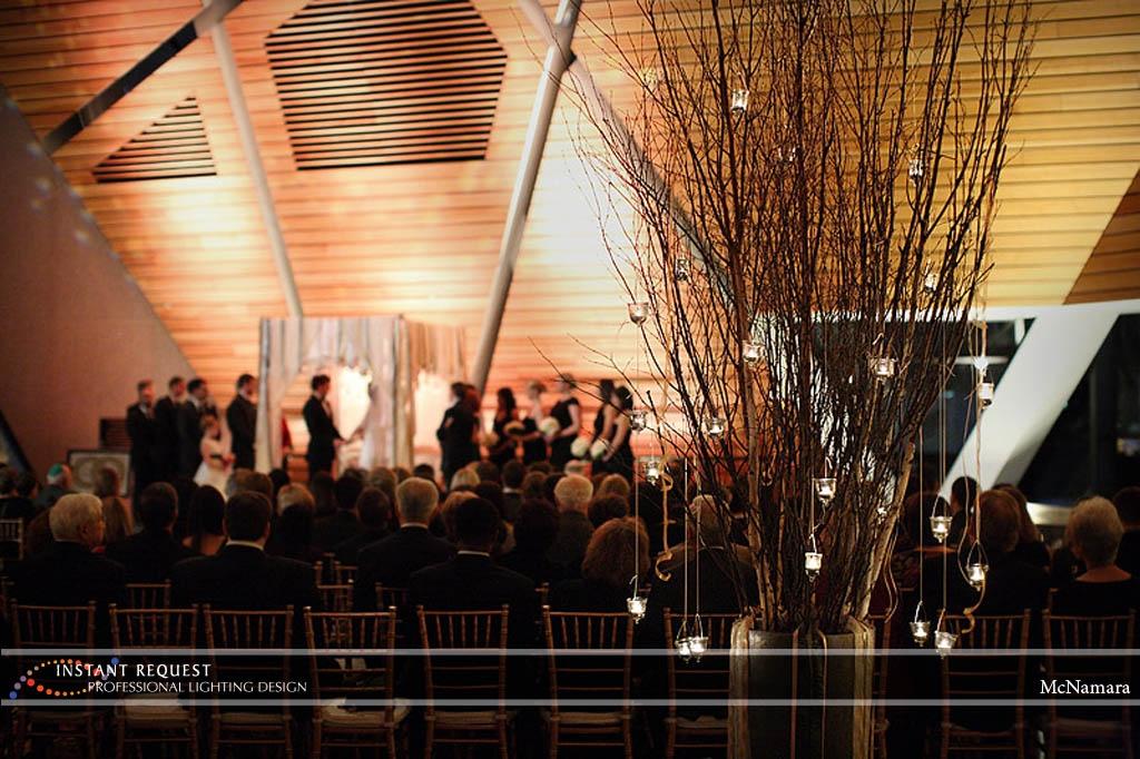 Wedding led uplighting at McNamara 21