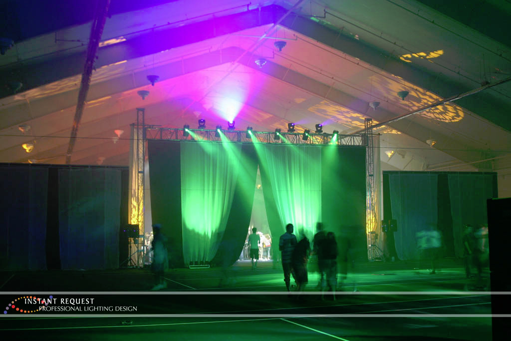 Wedding led uplighting at Lifetime Fitness 4