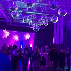 Mirror Ball Chandelier for New Years Eve Gala