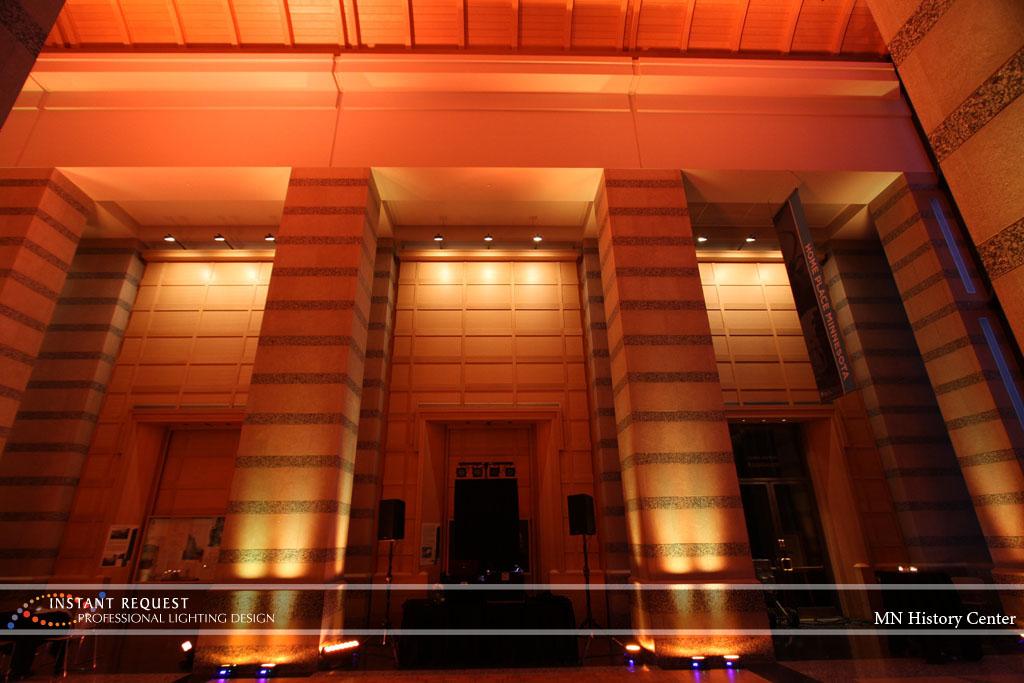 Wedding led uplighting at MN History Center 13