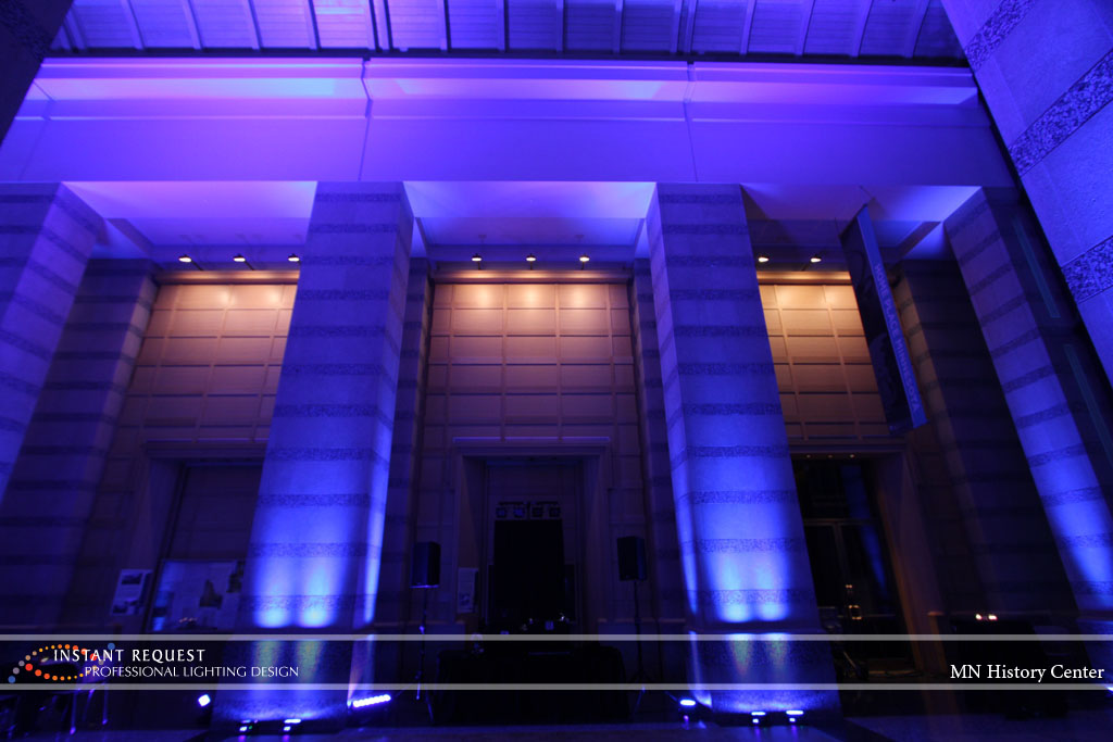 Wedding led uplighting at MN History Center 14