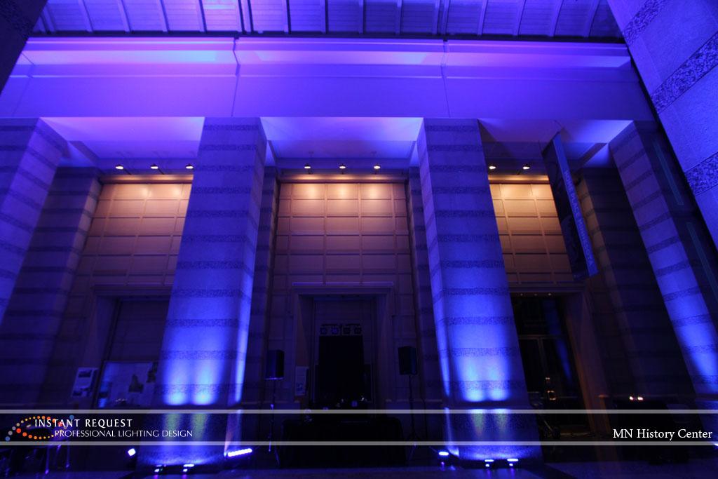 Wedding led uplighting at MN History Center 14