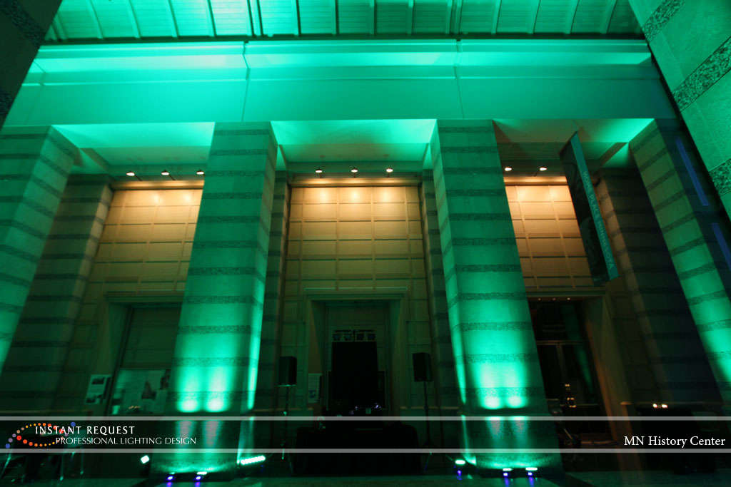 Wedding led uplighting at MN History Center 15
