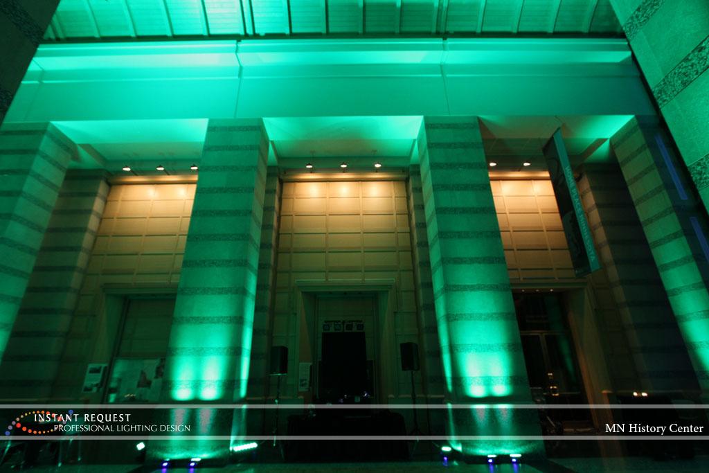 Wedding led uplighting at MN History Center 15