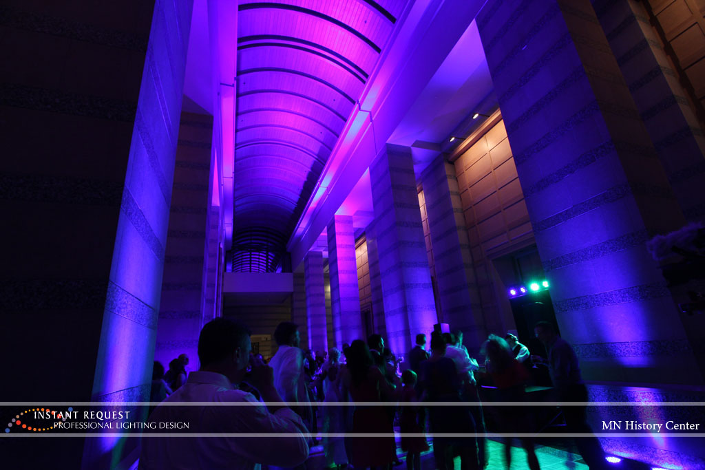 Wedding led uplighting at MN History Center 16