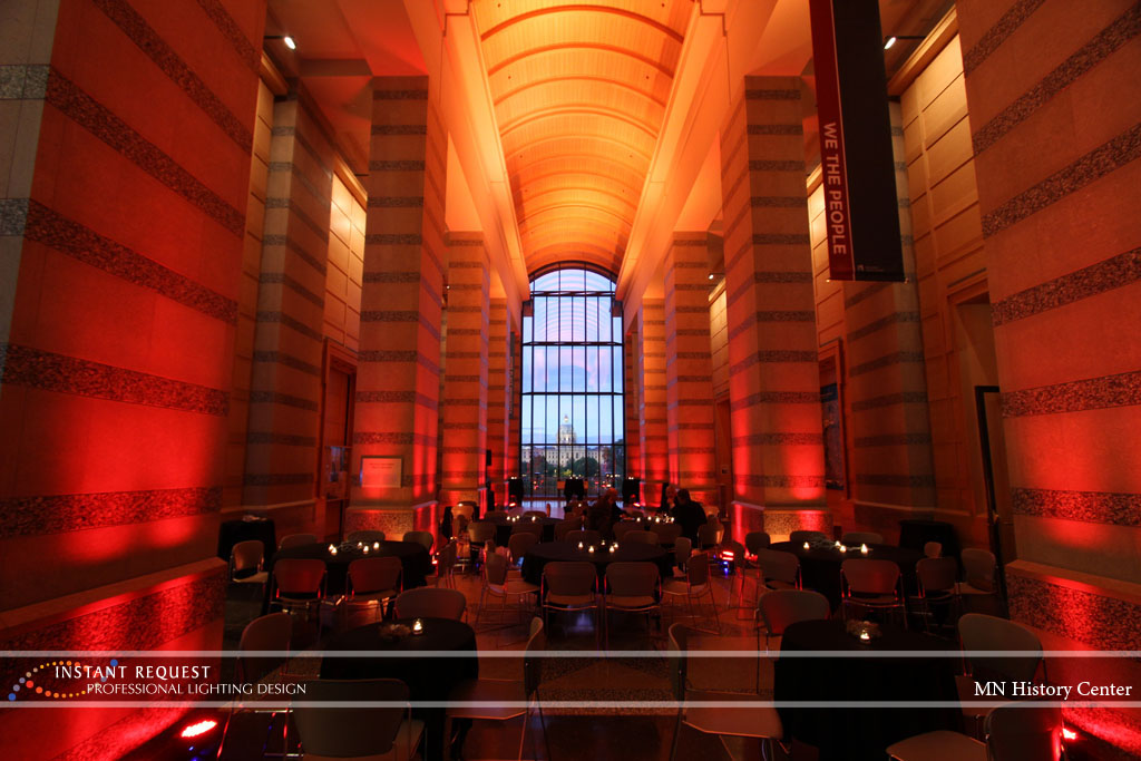 Wedding led uplighting at MN History Center 3