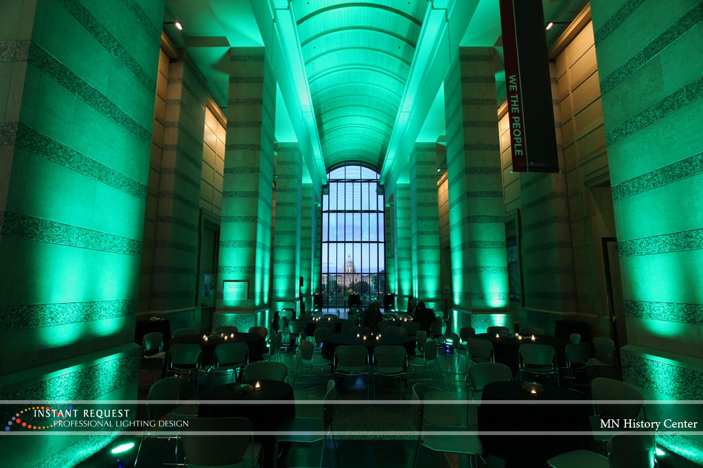 Wedding led uplighting at MN History Center 4