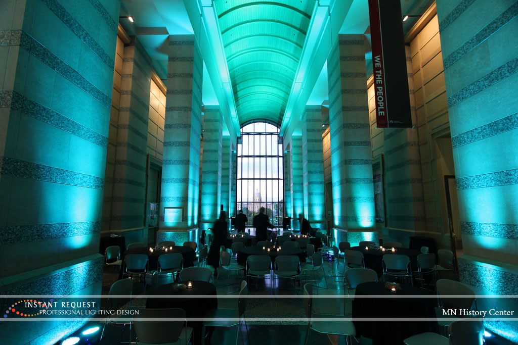 Wedding led uplighting at MN History Center 5