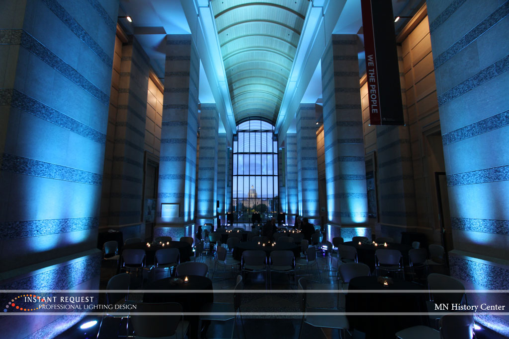 Wedding led uplighting at MN History Center 6