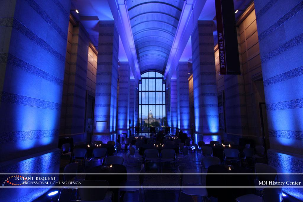 Wedding led uplighting at MN History Center 7
