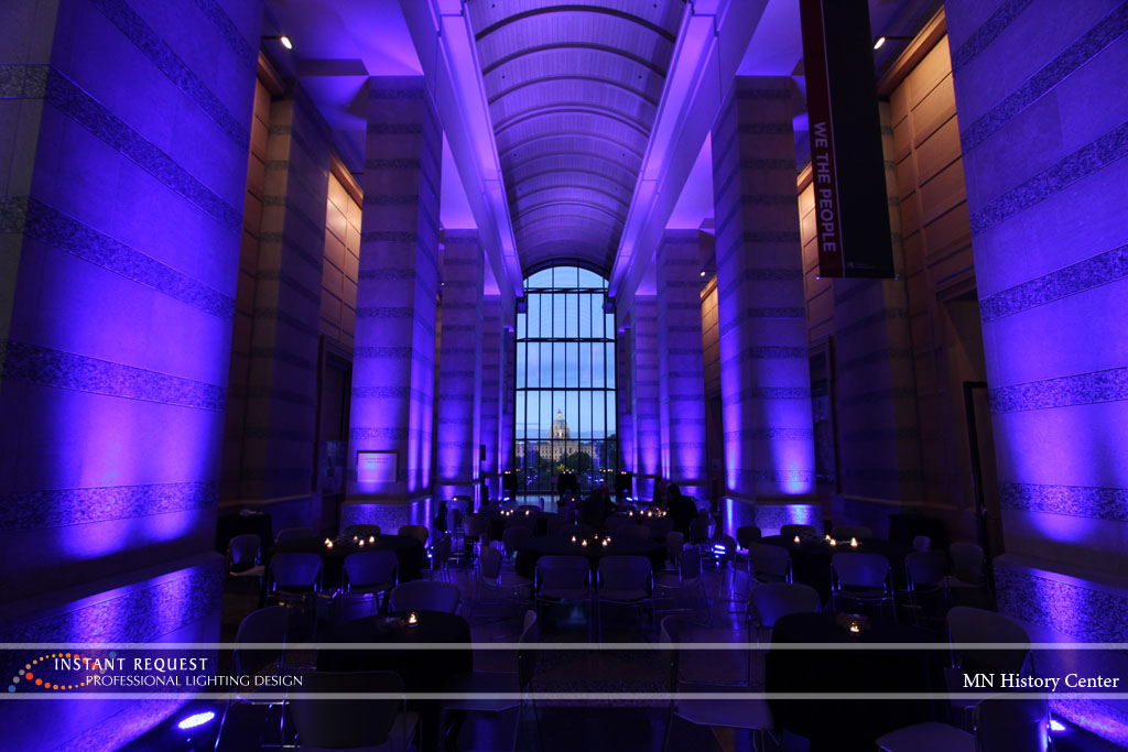 Wedding led uplighting at MN History Center 8