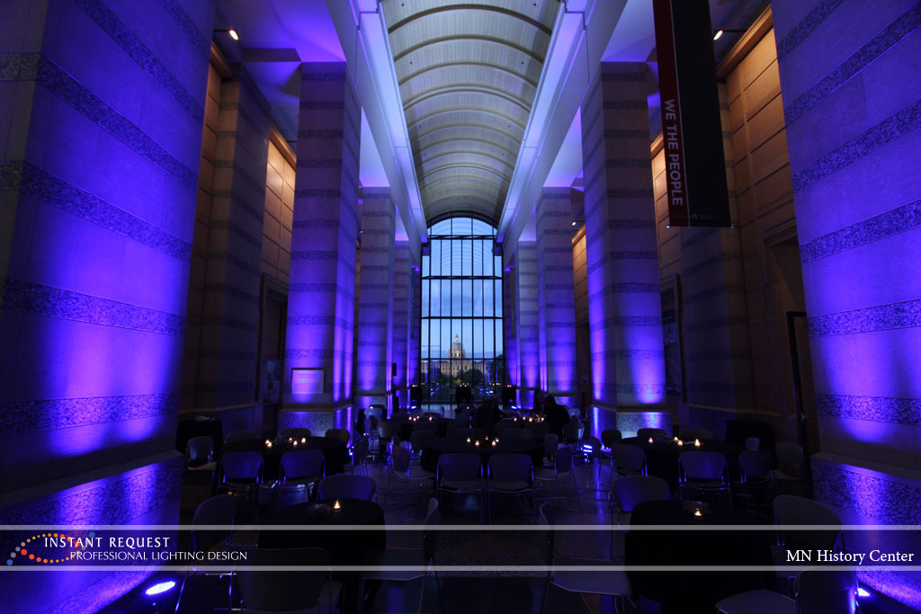 Wedding led uplighting at MN History Center 9