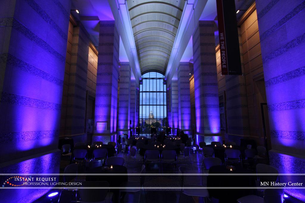 Wedding led uplighting at MN History Center 9
