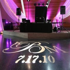 Mn History Center monogram on Black dance floor