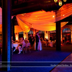 Wedding led uplighting at Nicollet Island Pavilion 2