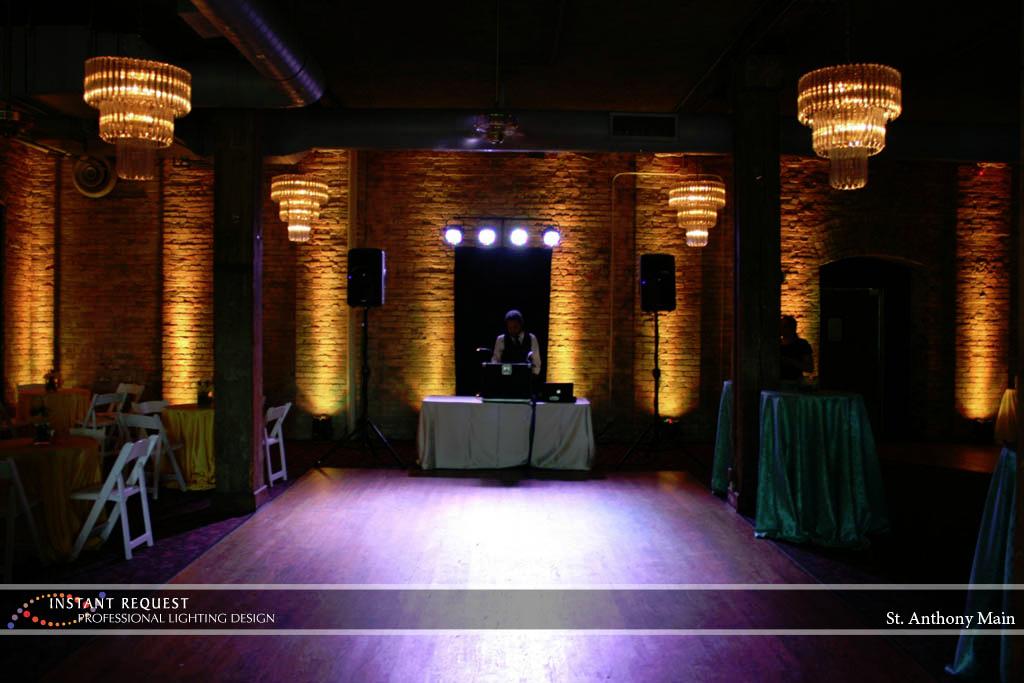 Wedding led uplighting at St. Anthony Main 2