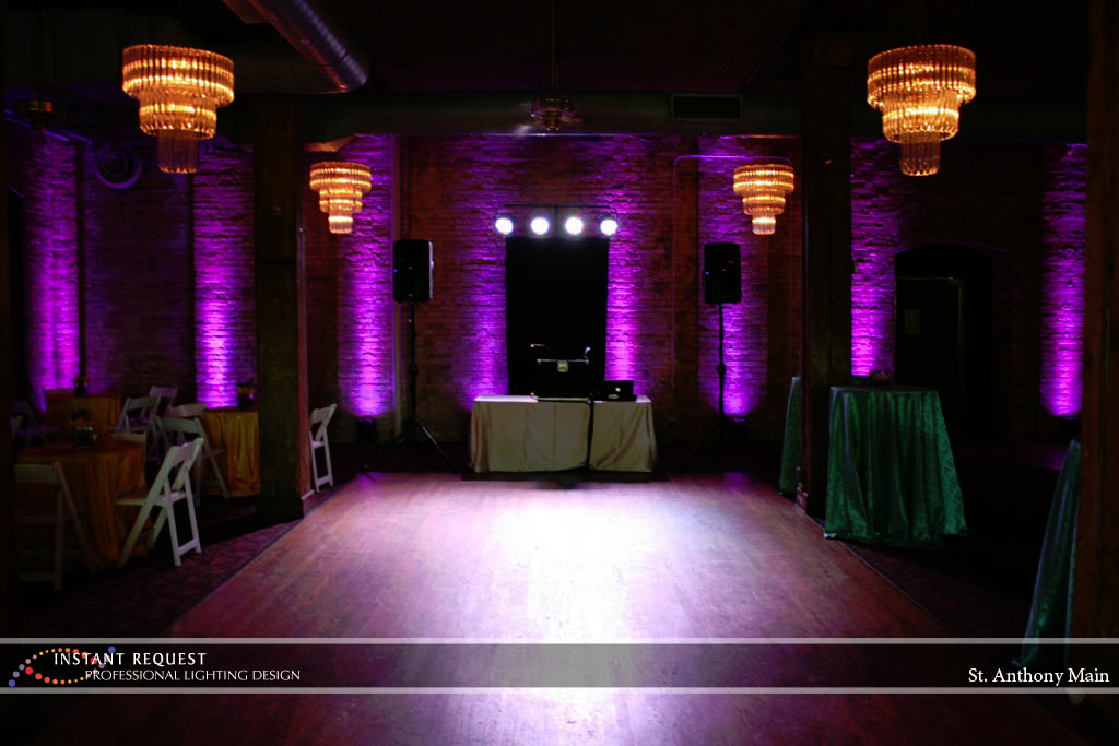 Wedding led uplighting at St. Anthony Main 3