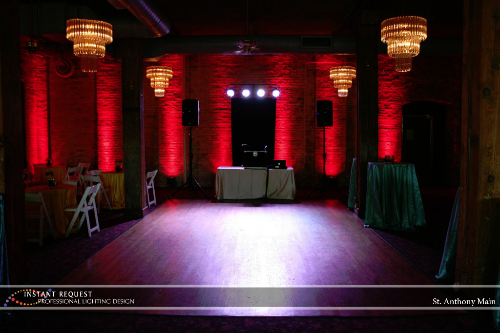 Wedding led uplighting at St. Anthony Main 4