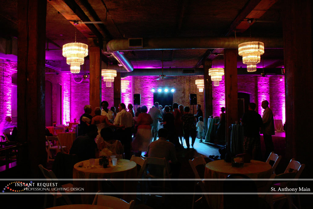 Wedding led uplighting at St. Anthony Main 6