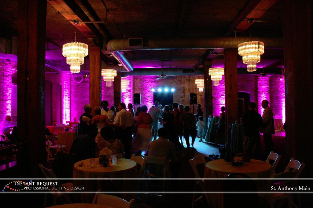 Wedding led uplighting at St. Anthony Main 6