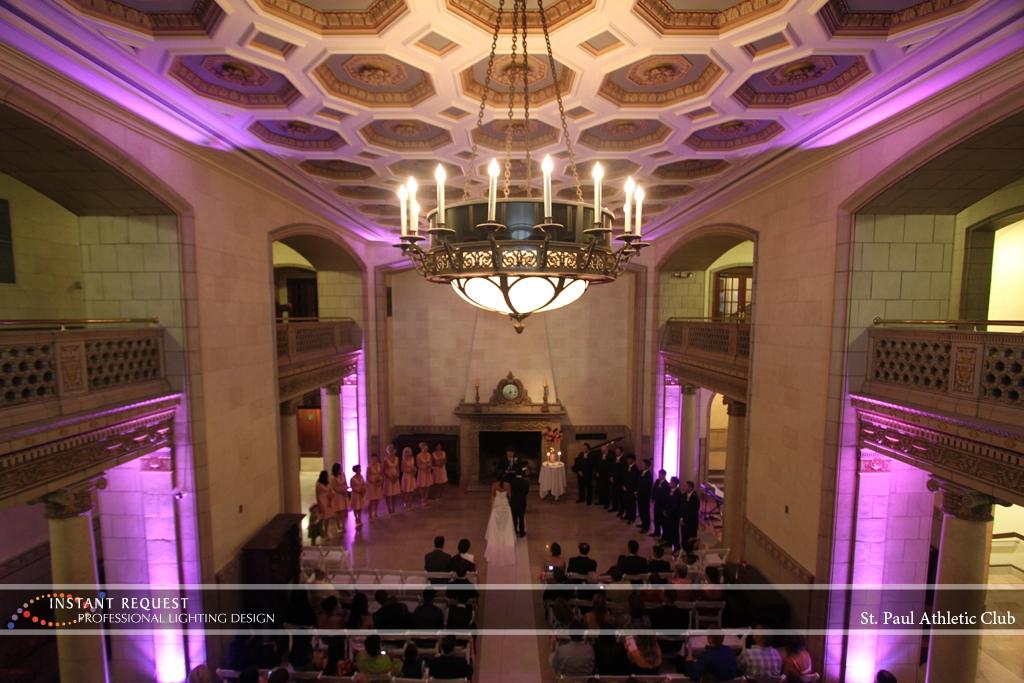 LED Wedding Uplighting at St. Paul Athletic Club 1
