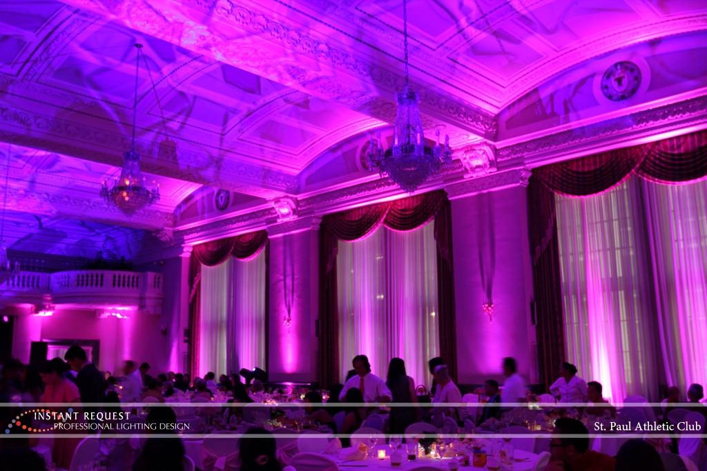 LED Wedding Uplighting at St. Paul Athletic Club 5