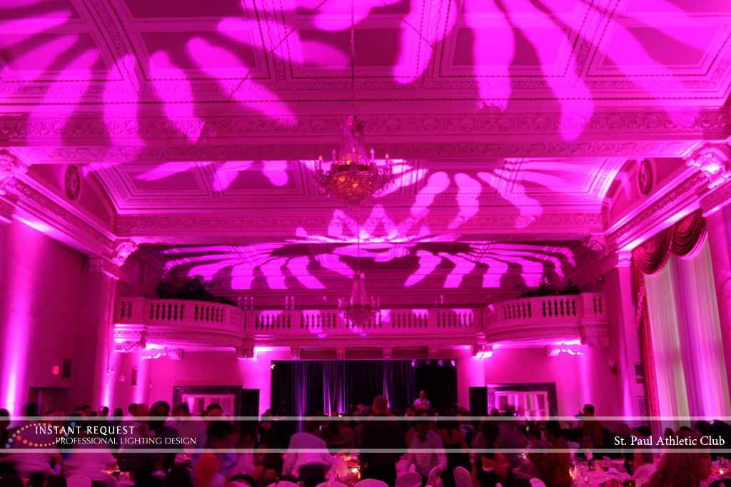 LED Wedding Uplighting at St. Paul Athletic Club 4