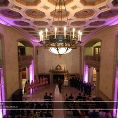 LED Wedding Uplighting at St. Paul Athletic Club 1