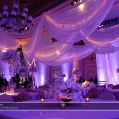 Wedding led uplighting at St Paul Hotel 13