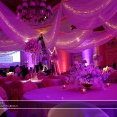 Wedding led uplighting at St Paul Hotel 14