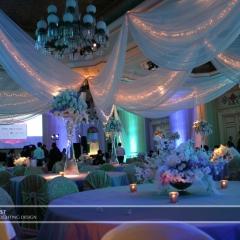 Wedding led uplighting at St Paul Hotel 15
