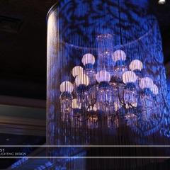 Wedding led uplighting at St Paul Hotel 3
