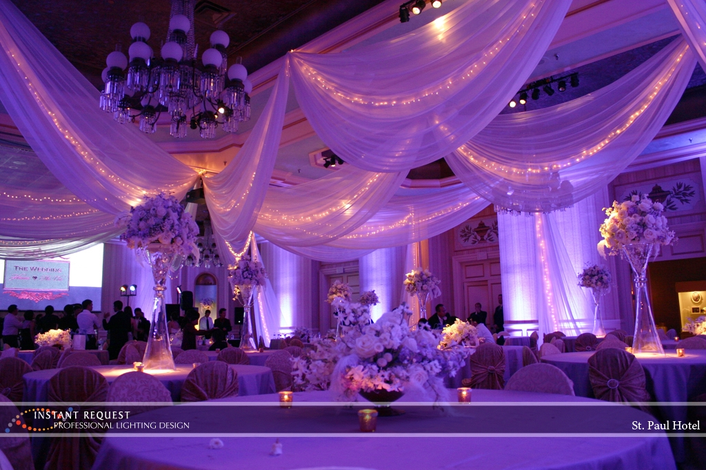 Wedding led uplighting at St Paul Hotel 13