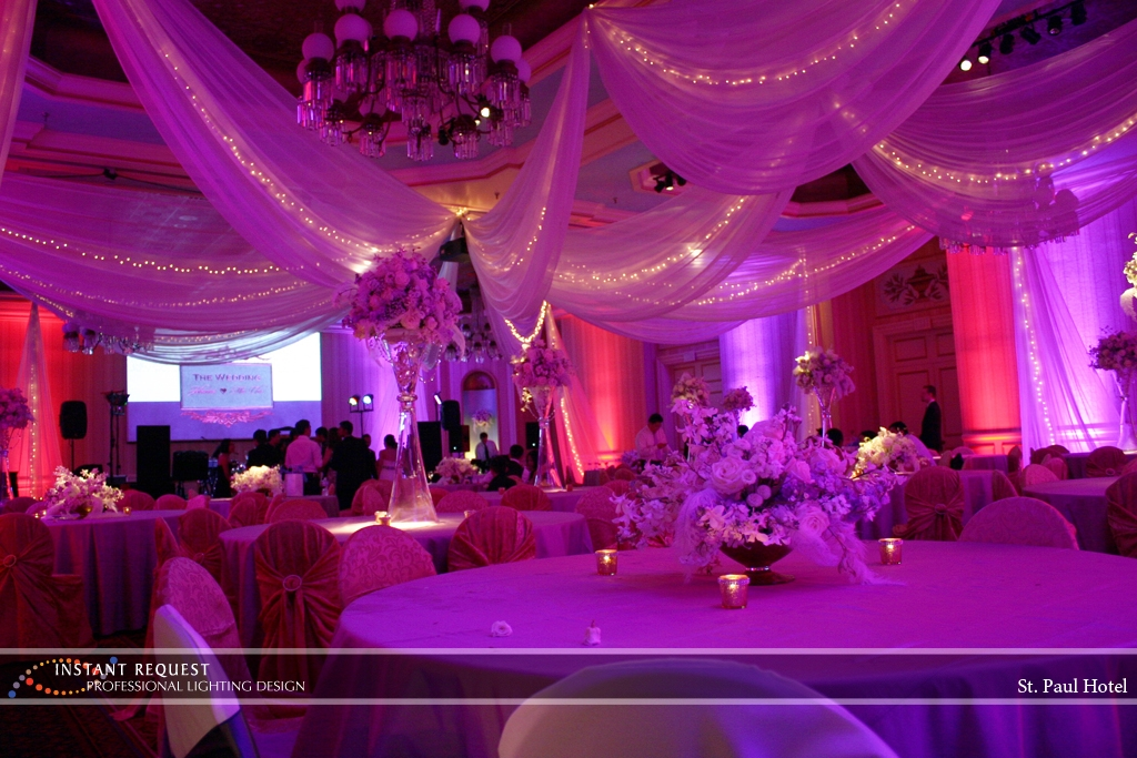 Wedding led uplighting at St Paul Hotel 14