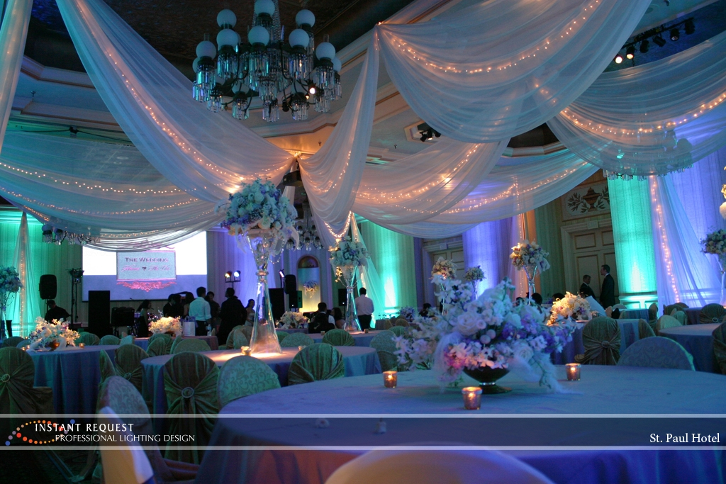 Wedding led uplighting at St Paul Hotel 15