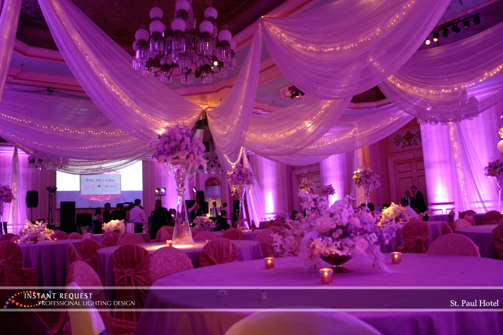 Wedding led uplighting at St Paul Hotel 16