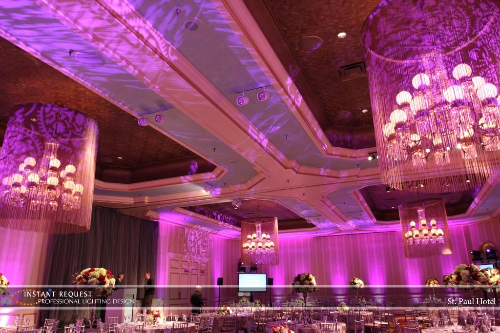 Wedding led uplighting at St Paul Hotel 10