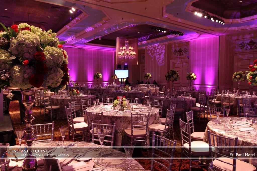 Wedding led uplighting at St Paul Hotel 11