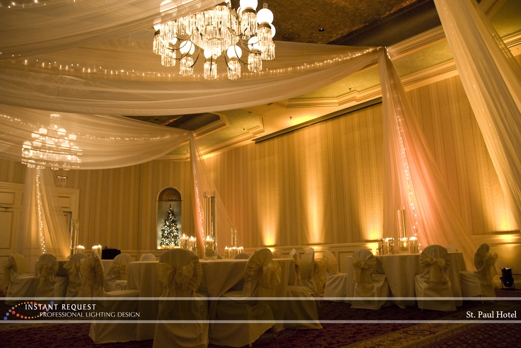 Wedding led uplighting at St Paul Hotel 17