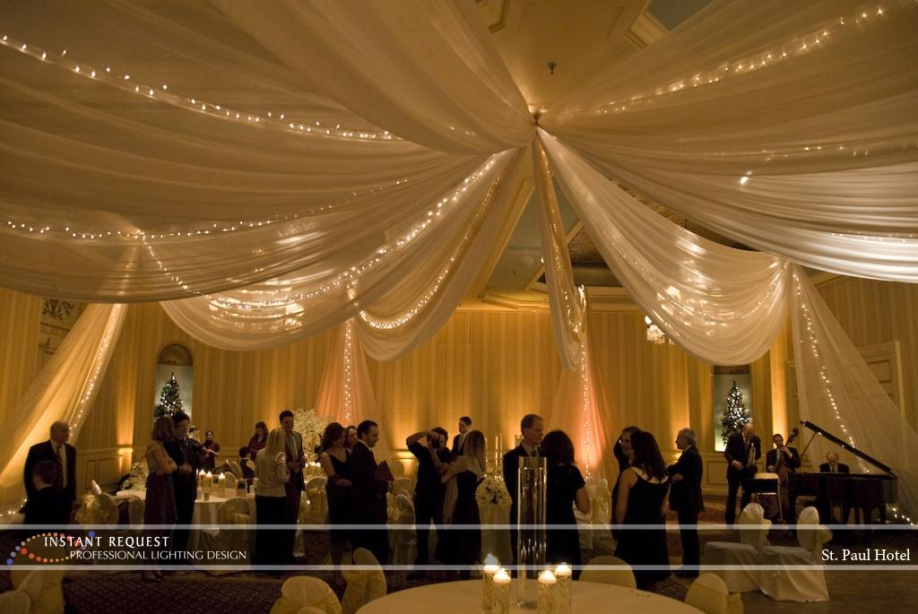 Wedding led uplighting at St Paul Hotel 18