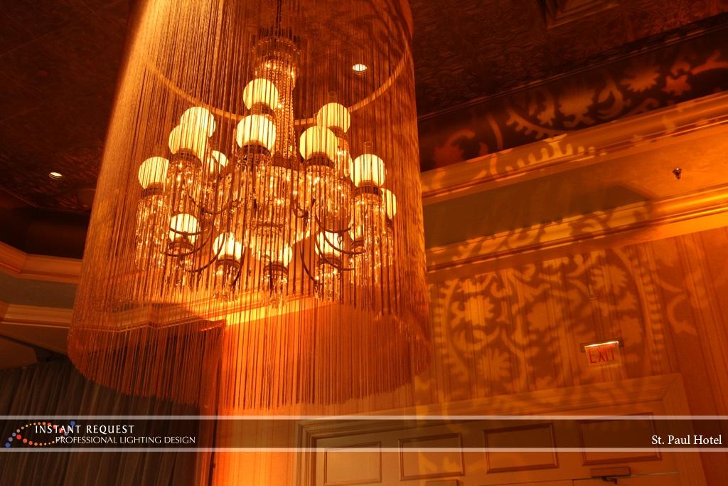 Wedding led uplighting at St Paul Hotel 7