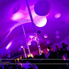 Wedding led uplighting at Tent 10
